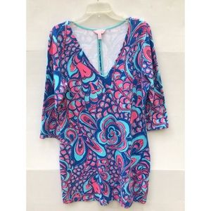 Lilly Pulitzer French Terry 3/4 Tee Shirt Dress XL
